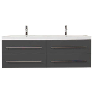 Emotion Persepolis Bathroom Furniture, 144 cm, Anthracite Semi-Gloss