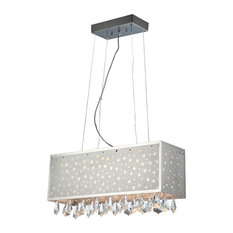 Crystal Ceiling Lamp, C Crystals, Jc G4 20Wx6 And Led 1Wx8