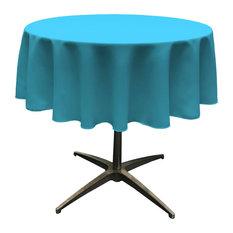 """LA Linen Round Polyester Poplin, Dark Turquoise, 51"""" Round"""