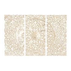 "Wood Wall Panels, 3-Piece Set, 66""x48"""