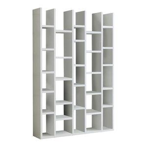 Torero 5 Column Bookcase, White Gloss
