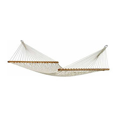 Cotton Rope Hammock with 3-Beam Stand