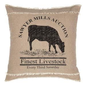Huron Blue Chambray Stripe Chenille Throw VHC Brands Coastal Farmhouse Pillows /& Throws
