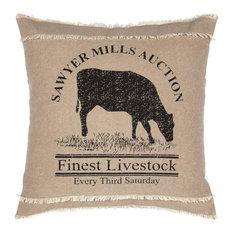"Sawyer Mill Cow Pillow, 18""x18"""