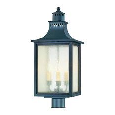 Monte Grande Outdoor Post Lantern, Slate