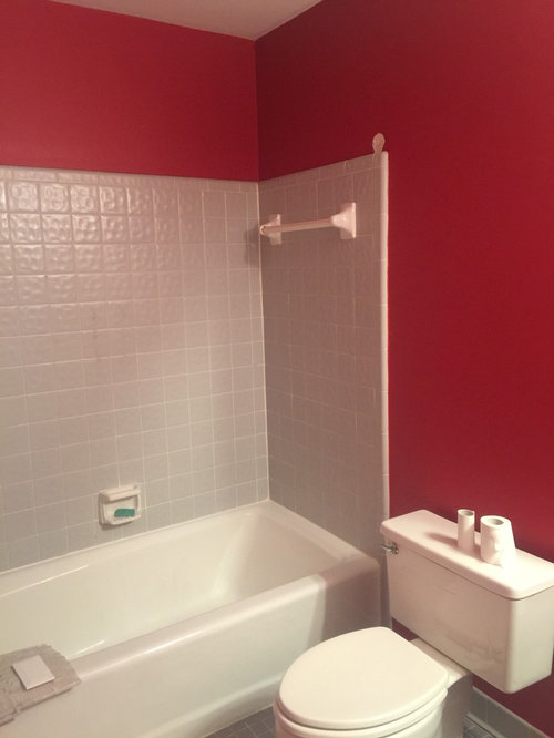 Help With Painting A Really Red Bathroom