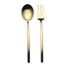 Serving Set, Fork and Spoon, Due, Ice Oro