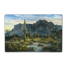 Springtime in the Superstitions, Classic Metal Sign