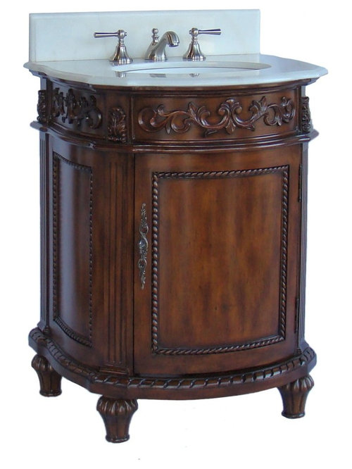 petite bathroom vanity. 26 Inch Petite Bathroom Vanity Brown Mahogany Finish - Vanities And Sink Consoles
