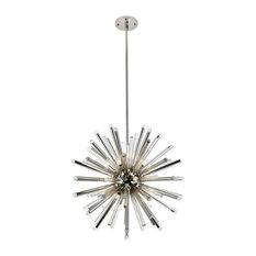 Elegant Lighting Maxwell 21-Light Crystal Chandelier, Polished Nickel