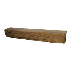"""Distressed Fireplace Mantle, 60"""", Plain"""