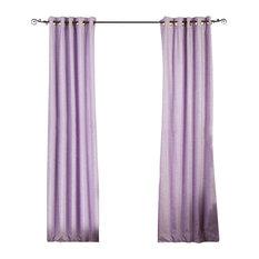 Lined-Lavender Ring / Grommet Top Velvet Curtain / Drape  -43W x 84L-Piece