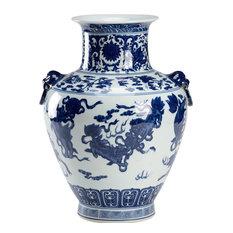 Vase CHELSEA HOUSE White Blue Black