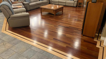 Custom Brazilian Cherry Hardwood with Maple Wood Band in Fort Collins