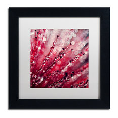 "Beata Czyzowska Young 'Red Melody' Framed Art, Black Frame, 11""x11"", White Matte"
