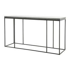 Trevor Industrial Loft Grey Bluestone Iron Console Table
