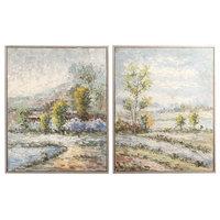 Wayward Rivers Landscape Hand Painted Artwork, 2-Piece Set