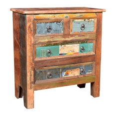 VidaXL Reclaimed Wood Cabinet With 4 Drawers