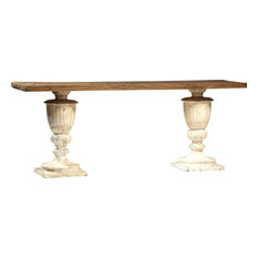 Console Table Dovetail Salisbury Gray White Paint Reclaimed Elm