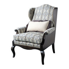 A.R.T. Home Furnishings   Empyrean Sky Exposed Wood Wing Chair   Armchairs  And Accent Chairs