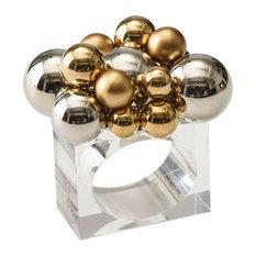 Kim Seybert Bauble Napkin Ring, Gold/Silver