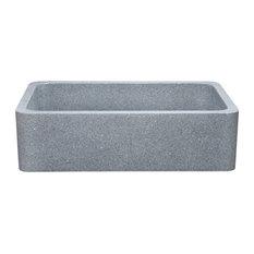 "Reversible 36"" Kitchen Farm Sink, Mercury Granite"
