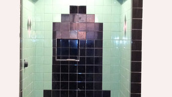 Art Deco Shower using vintage tiles
