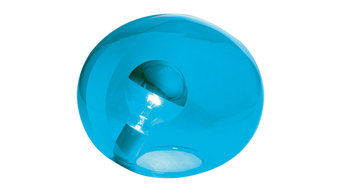 Luxwomen Glass Table Lamp, Turquoise