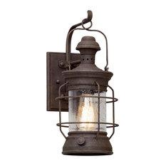 Troy Atkins 1-Light Wall Lantern, Centennial Rust, Small