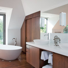 Walnut Accents in the Bathroom