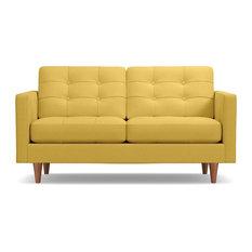 Lexington Apartment Size Sofa Gold 62-inchx40-inchx33-inch