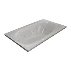 Atlantis Whirlpools Polaris 42 x 72 Rectangular Air & Whirlpool Jetted Bathtub