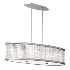 Dainolite 7 Light Oval Pendant with Crystal Rods GGE-367HP-SC