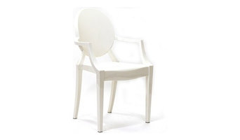 Philippe Starck Style Louis Ghost Chair, White