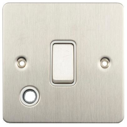 Schneider Ultimate 20AX Flat Plate With Flex Light Switch Stainless Steel