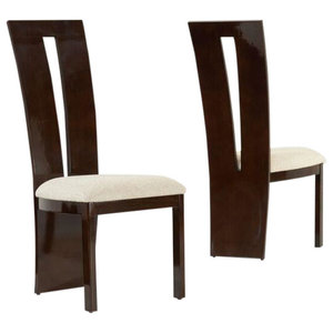 Valencie Dining Chairs, Brown Gloss, Set of 2