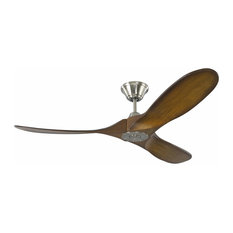 52 inch Maverick II Brushed Steel Ceiling Fan with 3 Koa wood blades