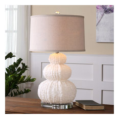 Uttermost Fontanne Shell Table Lamp, Ivory