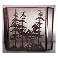 "40""x30"" Tall Pines Folding Fireplace Screen"