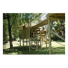 Secret 4-sided Rope Ladder treehouse entrance