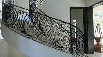 contemporary wrought iron railing