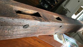 Reclaimed Log Mantel