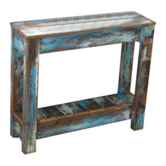 Attractive Doug And Cristy Designs   Breck Distressed Side Table, Blue   Side Tables  And End