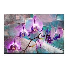 "Ready2Hangart 'Painted Petals XIX' Canvas Wall Art, Purple, 40""x30"""