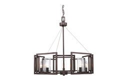Marco 5-Light Chandelier, Gunmetal Bronze, Gunmetal Bronze