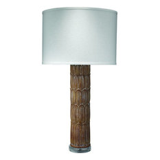 Carved Column Table Lamp by Jamie Young