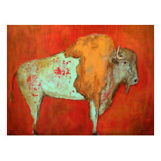 """Red Buffalo"" Outdoor Art"