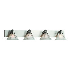 dolan designs craftsman 4light bathroom vanity lights in satin nickel bathroom vanity