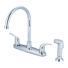 Olympia Faucets, Inc. - Two Handle Kitchen Faucet, Polished Chrome - Kitchen Faucets