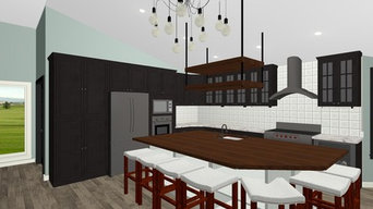 Eclectic kitchen remodel with custom butcher block